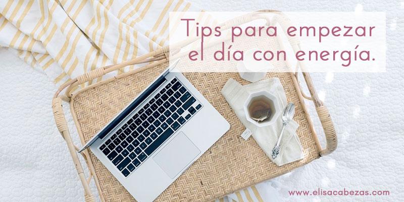 Elisa Cabezas, consejos para empezar el día con energía