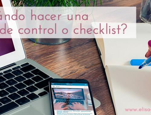 Quan és necessari crear una llista de control o checklist?